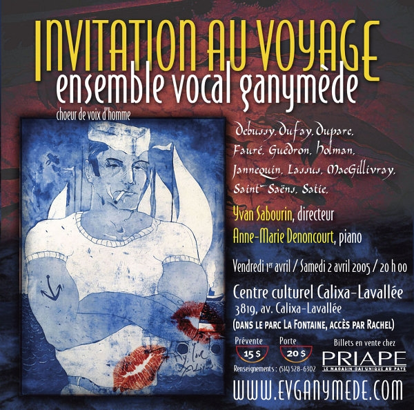 affiche concert Ganymède Invitation au voyage avril 2005