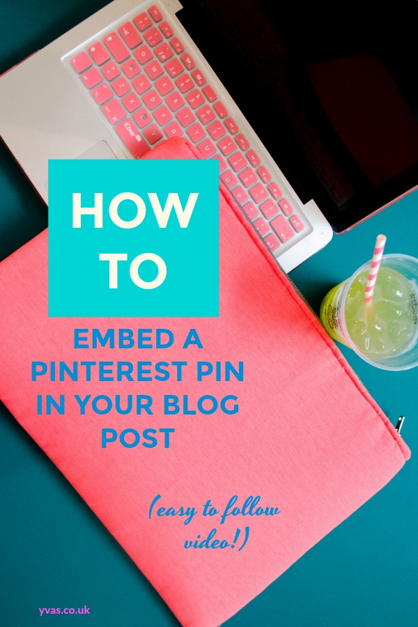 How to embed a pinterest pin in your blog post. Looking for a way to embed a Pinterest pin that leads to your profile within your blog post? Easy to follow video showing you exactly how to embed a Pinterest Pin!