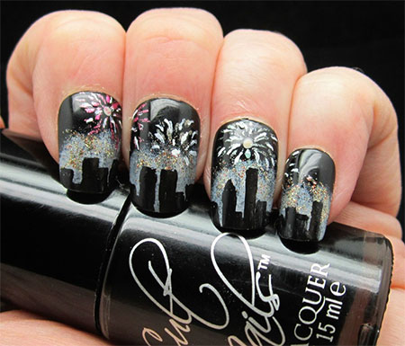New Years Nail Designs Yve Style