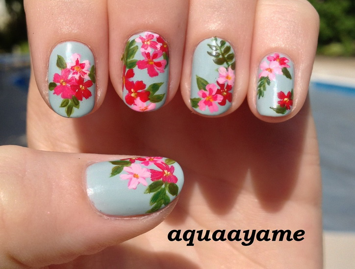 Simple Flower Nail Designs