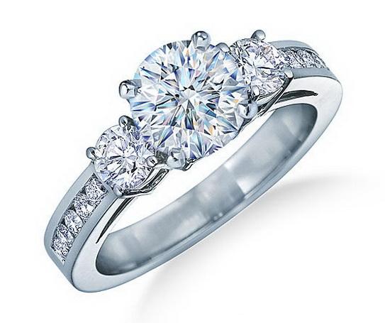 Imagini pentru inele de logodna cu trei pietre