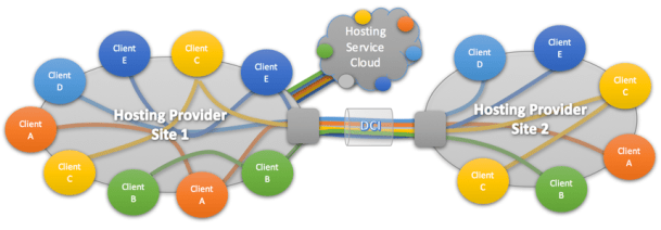 Figure-1 hosting service provider with service cloud