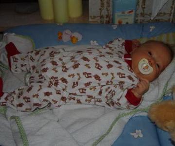 Frisch gebadet und fertig zum schlafengehen