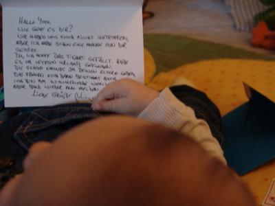 Der Brief ist von Gerhard
