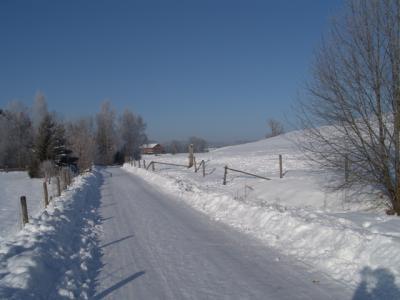 Wie war das im Lied? Riding through a Winterwonderland...