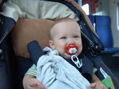 In der S-Bahn unterwegs