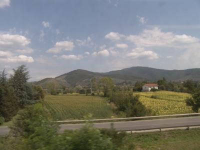 Und weiter geht's, nach Arezzo in Richtung Chiusi