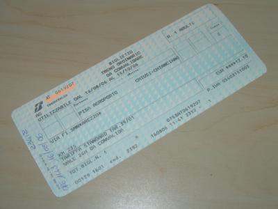So sieht also ein Ticket von Trenitalia aus...