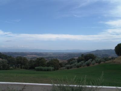 Das Panorama über das Val di Chiana ist toll
