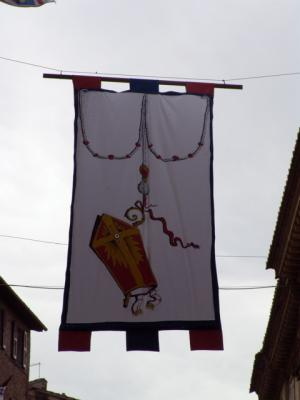 Città della Pieve ist für den Palio dekoriert