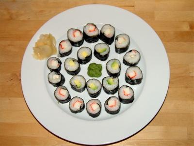Mamas erstes Sushi