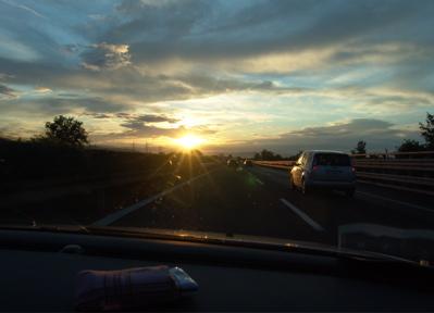Sonnenuntergang bei Firenze