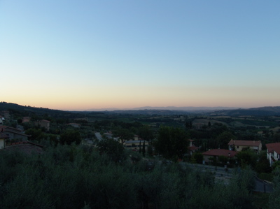 Sonnenuntergang am Monte Cetona