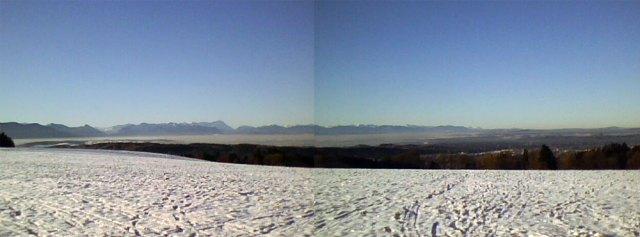 Super Panorama der Bayrischen Alpen
