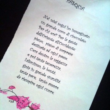 Yves recita la poesia di pasqua