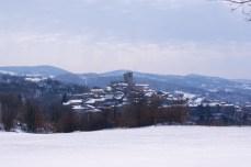 San Casciano dei Bagni sotto la neve
