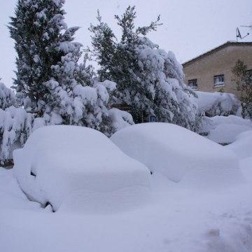 Un'altra nevicata in Toscana