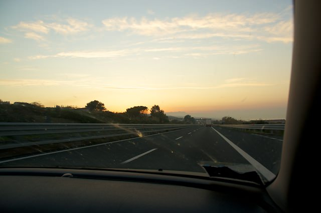 Tramonto vicino a Pescara
