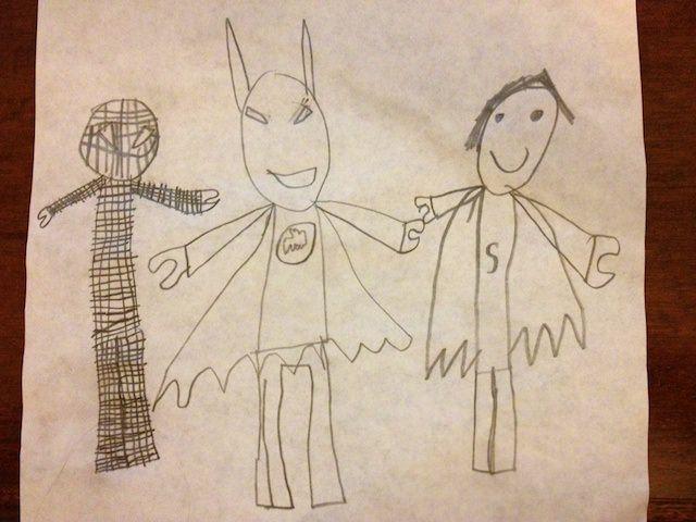 Yves ha fatto un disegno del trio fantastico