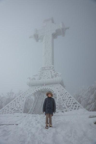 Fonzie e la croce sull'Amiata