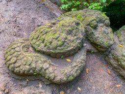 A stone snake