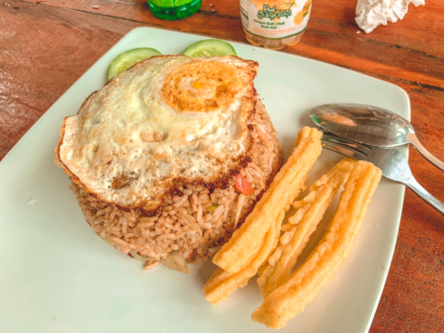 A delicious Nasi Goreng for lunch