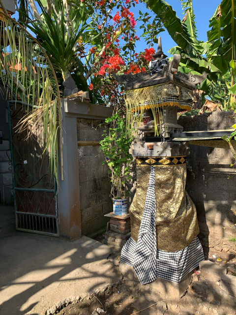 The shrine in front of the entrance