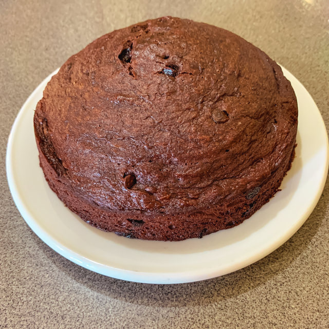I baked a brownies-cake