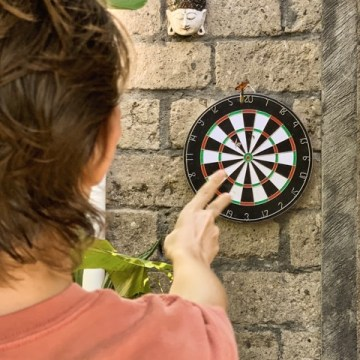 Our garden has the perfect measures for playing darts