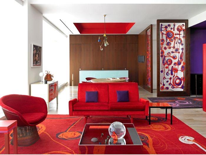 Modern Monday: Retro Red Room