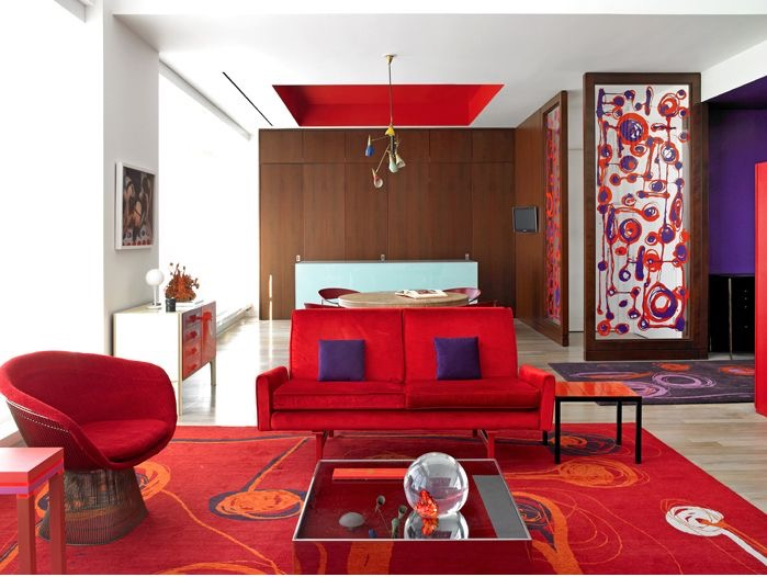 Modern Monday: Retro Red Room