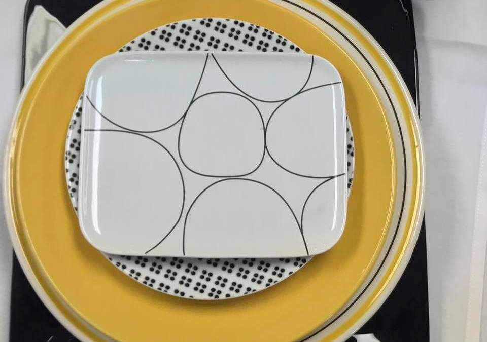 Tabletop Tuesday: Yellow + Black