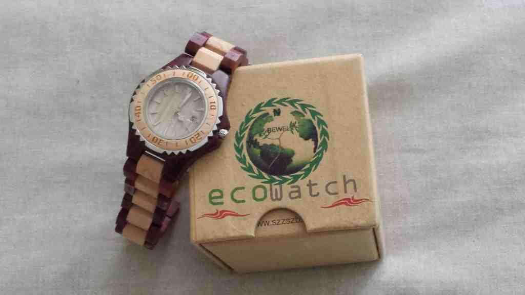 wooden faced wrist watch