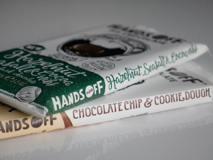 Hands Off My Chocolate Review Hazelnut Seasalt Cocoa Nibs 70% Cookie Dough