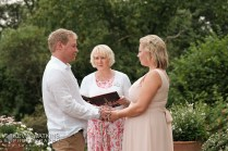A lovely outdoor handfasting Ceremony for Eleanor and Sam
