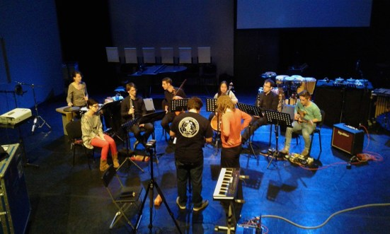 """Catchpenny Ensemble of the Royal Conservatoire Den Haag plays """"Train"""" by Yvonne Freckmann"""
