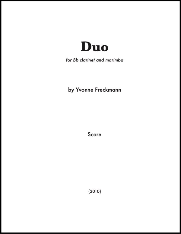 Duo cover page