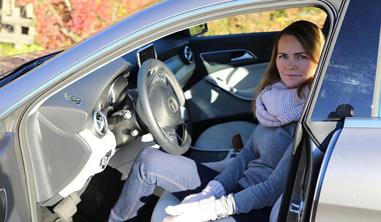 Bak rattet på en Mercedes-Benz CLA - Shooting Brake