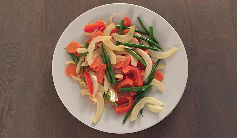 Wokede grønnsaker