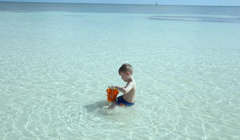 Leander på Bahia Honda State Resort.