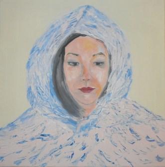 Rainy Manchester, Oil on canvas, 20 x 20 x 4 cm