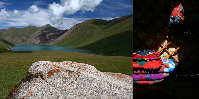 Yurt overnachting Kyrgyzstan