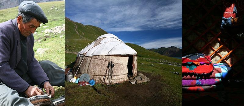 Kyrgyzstan slapen in een ger