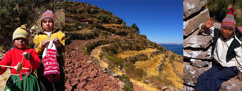 Taquile eiland Titicaca
