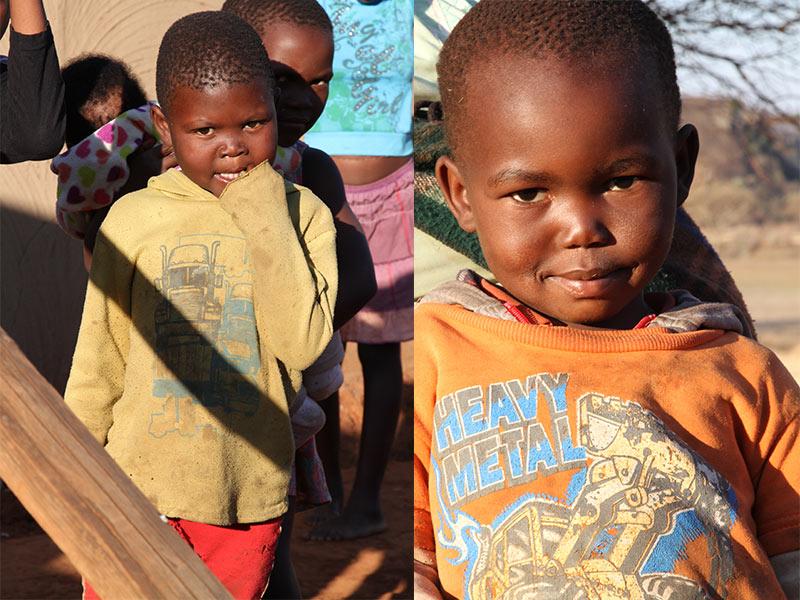 verlegen Zulu kinderen