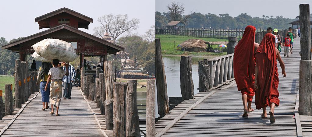 Amarapura U Bein brug