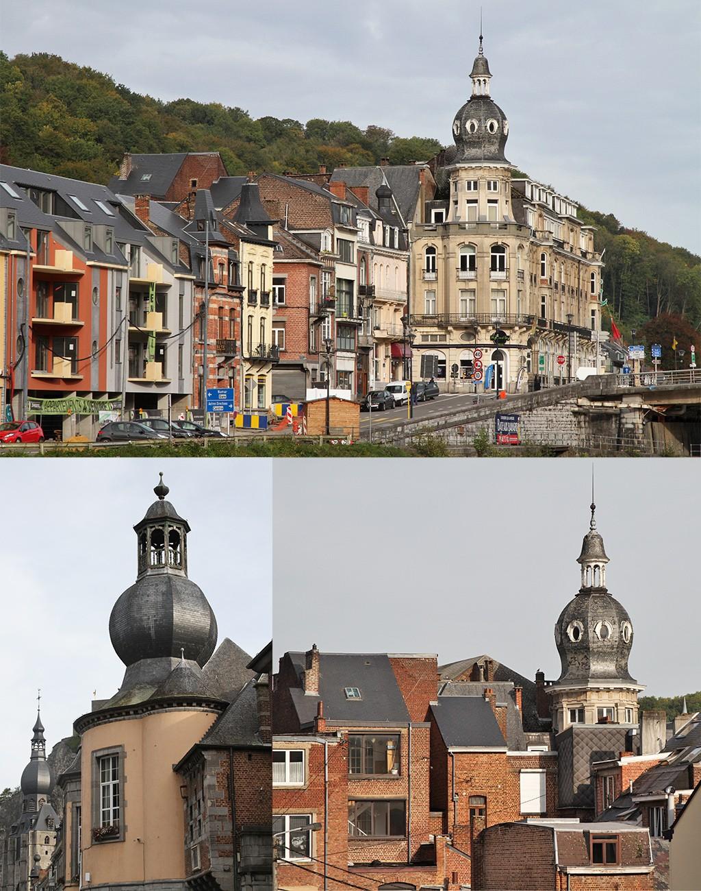 Dinant en Namen in foto's - torentjes in Dinant