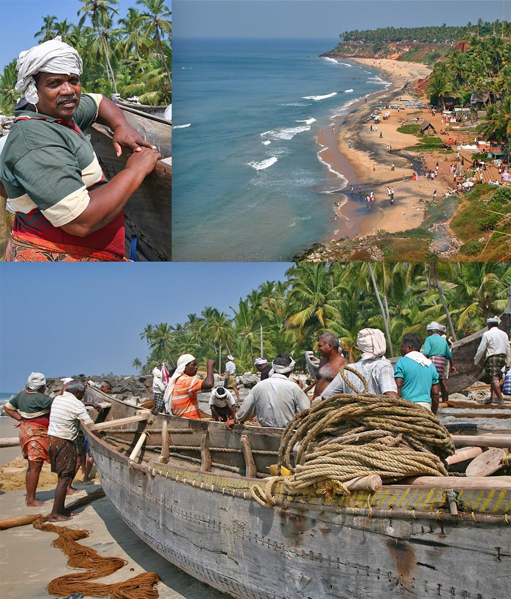 Kerala Varkala strand Zuid-India
