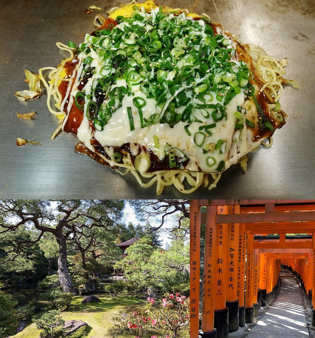 Okonokiyaki met kaas en lente-ui in Japan