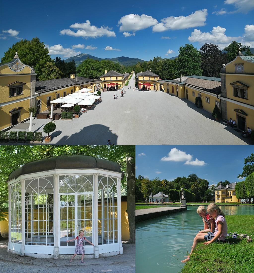 aankomst Schloss Hellbrunn